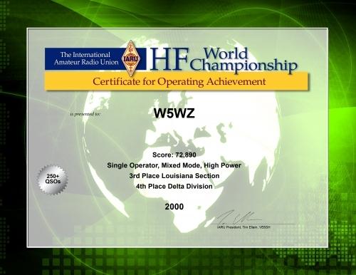 2000-W5WZ-IARU