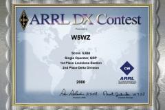 2000-W5WZ-ARRL-DX-CW