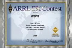 2000-W5WZ-ARRL-DX-PHONE