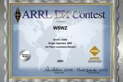 2001-W5WZ-ARRL-DX-PHONE