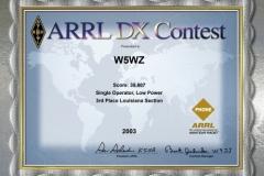 2003-W5WZ-ARRL-DX-PHONE