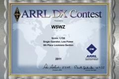 2011-W5WZ-ARRL-DX-CW