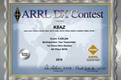 2016-K8AZ-ARRL-DX-PHONE
