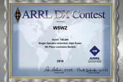 2018-W5WZ-ARRL-DX-CW