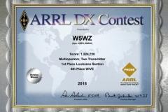 2018-W5WZ-ARRL-DX-Phone