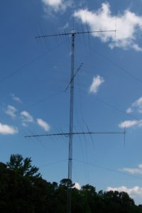 Building an 80-meter Shunt-Feed on Existing 120-ft Tower – Amateur
