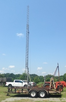 New Life for old EZ Way Tilt-over Crank-Up Tower – Amateur Radio